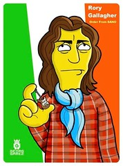 Funny Rory  Gallagher Cartoon (dollerosa) Tags: ireland irish rock poster guitar blues fender singer legend guitarist stratocaster composer songwriter rorygallagher bandsman