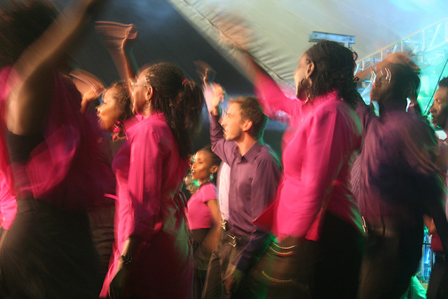 Choir members at Nairobi Chapel