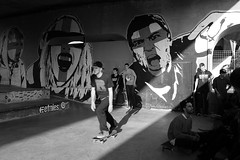 (i k o) Tags: camera bw sunlight streetart graffiti blackwhite sony 28mm contest bn skateboard pocket murales wallpainting pointshoot biancoenero sk8 compact gorizia carlzeiss tascabile rx100 compatta variosonnart 28100mmf1849 bestintheeast