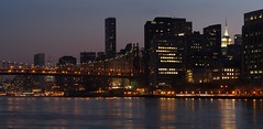 Darkness on the East River (beanhead4529) Tags: city nyc newyorkcity urban autostitch panorama night skyscraper dusk unitednations eastriver empirestatebuilding bluehour queensborobridge rooseveltisland