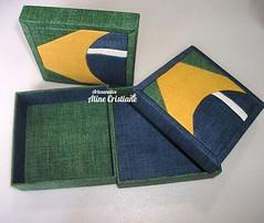 Caixas Brasil (Line Artesanatos) Tags: caixa caixademadeira caixaforrada patchworkembutido