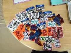 Who wants to trade?? Message me. (REMS ATV) Tags: streetart art graffiti stickers atv slaps villans scate alltimevillan ceito uploaded:by=flickrmobile flickriosapp:filter=nofilter alltimevillans
