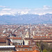 View of Turin from the Mole, looking towards the Alps