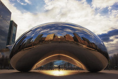 bean me up (Andy Kennelly) Tags: park city morning light sculpture chicago art me up downtown day cloudy millenium bean beam