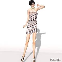 Valentina E.: Diagona Dress (Rehana Seljan / MISS V Hong Kong 2013) Tags: fashion pose hair jewelry secondlife rehana freebie posesion groupgift finesmith valentinae subscribegift laviere reogskin