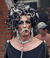 Medusa (deepchi1) Tags: sanfrancisco california gay leather festival sm masks transvestites homosexual transexual bizarre streetpeople folsomstreet sadism masochism folsomstreetfestival smfestivalstreet