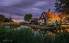 Zaanse Schans - historic Dutch house (Toon E) Tags: holland water netherlands windmill amsterdam night clouds evening sony nederland zaanseschans zaandam 2016 zaanstad touristical tonika a6000 tonikaatx116pro1116f28