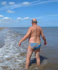 Paddling in the North Sea (pj's memories) Tags: huttoft kiniki tanthru beach seaside sea