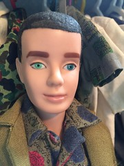 Warning: Paint Fading from Benzoyl Peroxide (Foxy Belle) Tags: vintage ken doll barbie mattel damage oxy treatment benzoyl peroxide zit cream faded paint eyes green