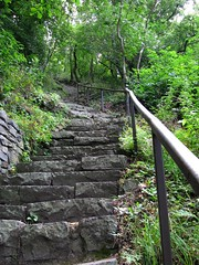 follow me (s_lverspring) Tags: stairs up slope mountain winding disappear handrail endless path hill forest woods bujdosklpcsje badacsony hungary