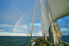 Windjammer Rainbow (SunCat) Tags: windjammer mandalay travelaunaturel sailing cruise travel vacation 2001 all caribbean grenadines tallship rainbow