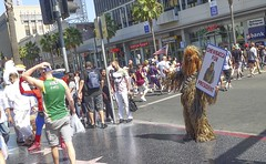 Campaigning on Hollywood Blvd. (wecarroll72) Tags: la chewbacca hollywoodblvd
