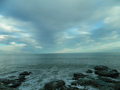 (Jess Monier) Tags: ocean water landscape rocks blue sky afternoon waves silence moment silent disconection unique place clouds