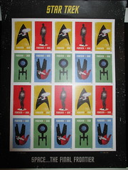 Star Trek Stamps - Forever 2016 NYC 5010 (Brechtbug) Tags: star trek stamps forever kirk spock vulcan romulan klingon future astronauts with jet packs space stamp outer universe science fiction scifi rocket pack flying jodhpurs glass bubble helmet buck rogers like man men explorer galaxy 2016 usa government issue postage postal mail station tenement housing orbit planet planets saturn circa 1966 1968 belt 50 year anniversary nyc