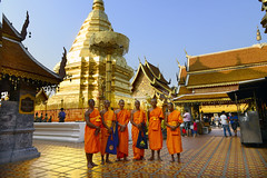 Doi Suthep (Anoop Negi) Tags: wat doi suthep thailand chiangmai phra that buddhism pagoda golden gold monks thai setting sun 6 group temple complex travel tourism asia anoop negi ezee123