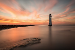 Red rocks (Paul-Farrell) Tags: sunset longexposure 10stop ndfilter newbrighton perchrock lighthouse wirral merseyside canon 5dmkiii 1740mm fagsy63 paulfarrell
