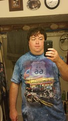 New Route 66 t-shirt (Adventurer Dustin Holmes) Tags: 2016 selfie dustinholmes dustinkholmes dustinkeithholmes bathroomselfie bathroomselfies male man ahumanbeing person phoneselfie mirrorselfie route66tshirt
