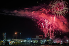 starwars themed fireworks after the a's game (pbo31) Tags: california nikon d810 color august 2016 summer boury pbo31 bayarea oco coliseum oakland eastbay alamedacounty fireworks stadium game sport night black as baseball starwars show nbl red silhouette