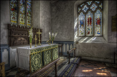 Stowe Church (Darwinsgift) Tags: stowe church gardens national trust buckinghamshire stained glass hdr photomatix photoshop interior voigtlander f35 20mm color skopar slii ngc