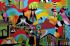 Brasil Pop Art (Lobo - Pop Art) Tags: brasil riodejaneiro salvador bahia sopaulo portoalegre olinda brasilia belohorizonte favela popart lobo artista quadros personalizado artistabrasileiro artebrasileira arte contemporneo lobopopart artistaplastico pintoresbrasileiros romerobritto artebrasil pintura poparte gravura poster artemoderna sp