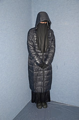 Soggy (Buses,Trains and Fetish) Tags: soggy niqab hijab burka chador girl slave torture rain warm sweat