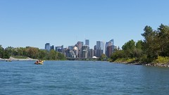 Calgary from The Bow River (Downhillnut) Tags: calgary alberta raft rafting bowriver summer august 2016 river float
