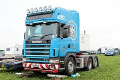 J E Wright and Sons Scania 164L SV04 EUB Great Dorset Steam Fair 2016 (davidseall) Tags: scania 164l sv04 eub sv04eub great dorset steam fair j e wright sons truck lorry artic tractor unit v8 lgv hgv large heavy goods vehicle haulage
