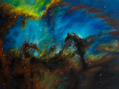 Breath of Life (artbyjes) Tags: space astronomy art painting artist painter hubble nasa stars cosmos nebula universe galaxy sci fi scifi science fiction outer deep night sky omaha contemporary modern