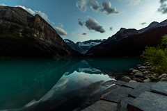 Lake Louise at dusk (FlintWeiss) Tags: lakelouise 60d alberta mountains efs1022mmf3545usm canada canon banff 2016 nationalpark