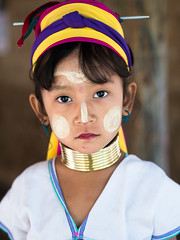 Paduang Girl (wu di 3) Tags: paduang girl portrait culture coppercoil longneck tribe northern thailand chiangmai facecream tanakha