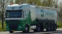 NL - Hurkmans DAF Xf 105.460 SSC (BonsaiTruck) Tags: spitzer hurkmans daf xf 105 lkw lastwagen lastzug silozug truck trucks lorry lorries camion silo bulk citerne powdertank