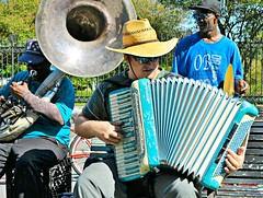 New Orleans Musicians in Jackson Square (forestforthetress) Tags: band gig concert music musician instrument fun entertainment neworleans jacksonsquare man
