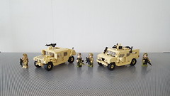Old Friends (Project Azazel) Tags: brickarms citizenbrick pa projectazazel custom legocustom military legomilitarymodel wulf humvee us specialforces allied friends vehicles legocustomvehicles