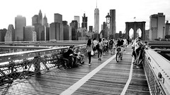 You carried us all (Lojones13) Tags: carrying blackandwhite outdoor skyline city newyork brooklynbridge walkway promenade architecture