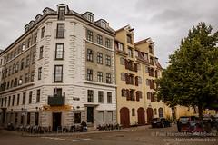 Lone man outside a cafe of Christianshavn