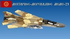 MeMe-23 (Awesome-o-saurus) Tags: lego jet fighter mig23