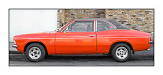 Ford Cortina MK3 (1970-76), East London, England (Explore 2-10-16). (Joseph O'Malley64) Tags: ford cortina fordcortinamk3twodoor eastlondon eastend london england uk britain british greatbritain car vehicle motorvehicle automobile orange vinylroof alloywheels parked parking onstreetparking residentialparking brickwork render granitekerbing tarmac classic classiccar rare
