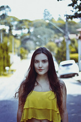 Letcia (TheJennire) Tags: photography fotografia foto photo canon camera camara colours colores cores light luz young tumblr indie teen people portrait yellow summer girl hair cabello pelo cabelo face look lifestyle eyes
