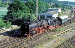 50 245  Tbingen  31.05.97 (w. + h. brutzer) Tags: tbingen dampfloks steam eisenbahn eisenbahnen train trains railway deutschland germany lokomotive locomotive zug 50 efz dampflok webru analog nikon