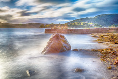 The Rock and Oscarsborg fortress. (Normann Photography) Tags: 40mmef1740mmf4lusm 51sec akershus drbaksundet frogn hdr iso50 kopsbrygga leefilters ndfilter oscarsborgfestning stone thebigstopper equalizedwavepropagation f22 fortress molo pier rock seascape seaweeds shore water wavesequalized windy drbak norway no