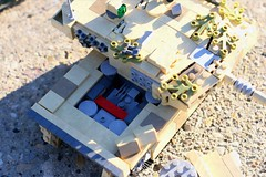 """""""Easy to maintain..."""" (Connor Querin) Tags: 135 leopard 2 a6 tan tank lego outdoors rear engine mtumb873 powerpack"""