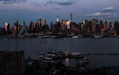 Sunset on west Manhattan_4765 (ixus960) Tags: nyc newyork america usa manhattan city mégapole amérique amériquedunord ville architecture buildings nowyorc bigapple