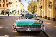 Eldorado (vapi photographie) Tags: cadillac eldorado green convertible cabriolet stockholm rear open car nikon scandinavia vintage old classic chrome