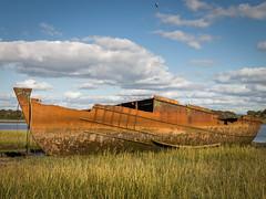 Rusty wreck (Andrew_5J) Tags: shipwreck fleetwood estuary marsh mud river rust abandoned sinking