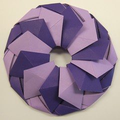 Ring 10 (Tomoko Fuse) (ChrisL_AK) Tags: origami ring wreath tomokofuse