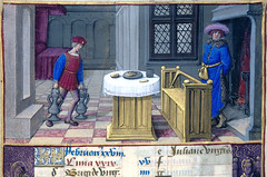 February - The servant brings jugs of wine, the Lord is warming his back (petrus.agricola) Tags: new york by jean library medieval illuminated hours months morgan manuscript henryviii dei pierpont ciclo labors mesi poyer monatsarbeiten