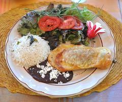 Chile Relleno Oaxaca Mexico (Ilhuicamina) Tags: food mexicana beans rice comida mexican chilerelleno oaxaca radish tilcajete