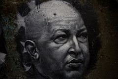 Une légende est née, Hugo Chavez painted portrait _MG_8182002