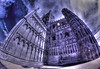 Inception(explore) (Kriegaffe 9) Tags: sky church stone clouds bend gothic eerie cathederal fisheye spooky explore horror ely curve distort buiding inception samyang