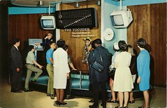The Vocoder, Museum of Science and Industry, Chicago, Illinois (SwellMap) Tags: museum vintage advertising design weird pc 60s technology fifties display postcard suburbia style kitsch exhibit science retro nostalgia chrome 1950s future postcards americana 50s 1960s unusual roadside googie populuxe sixties babyboomer consumer coldwar midcenturymodern midcentury spaceage atomicage scienceandtechnology